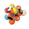 Skumbollar i olika färger basket, fotboll, volleyboll och amerikansk fotboll