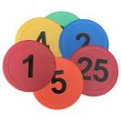 Markeringsplattor med siffror 1-25