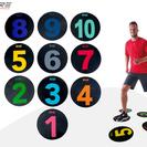 Markeringsplattor med siffror 1-10